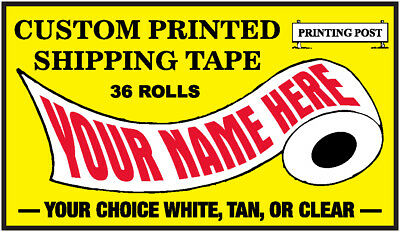 1 Case Custom Printed Shipping / Packing Tape (36 Rolls)