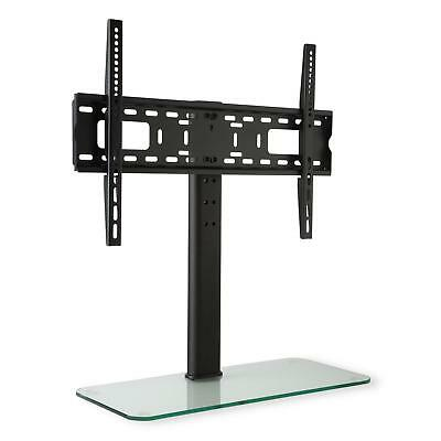 """Auna 23""""-55"""" Tv Stand Wall Mount Bracket Glass Base Height Adjustable *free P&p*"""