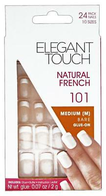 ELEGANT TOUCH Fake Nails natural 101 french average coffins