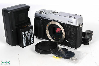Fujifilm X-E1 Mirrorless Digital Camera Body (Silver) W/Battery and Charger
