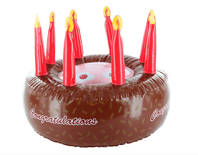 Inflatable Chocolate CONGRATULATIONS Cake 🎂 Novelty Fun Birthday Party Gift 🎉