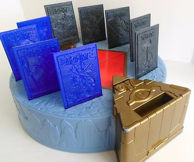 Yu-Gi-Oh Duel Monsters Arena Playset Case Plastic Card 9 Holo Tile Stands