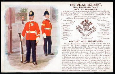 THE WELSH REGIMENT History & Traditions series. 1910 edition with 2 new honours