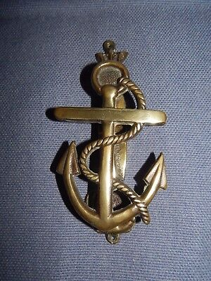 Antique Vintage Brass Anchor And Rope Door Knocker ~ Royal Navy  Maritime ~ 5.5""