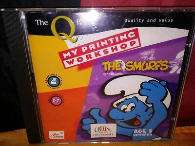 My Printing Workshop: The Smurfs PC CD-ROM The Q Range Infogrames