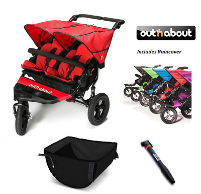 out and about nipper double shopping basket. Black Bedroom Furniture Sets. Home Design Ideas