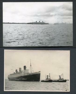 Photo & Postcard Of Queen Mary Arriving Southampton 27.3.1936