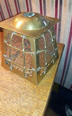 art and crafts brass copper rivets hall lantern