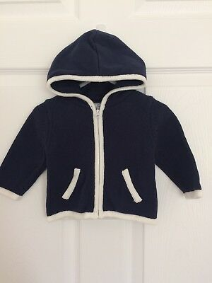 Baby Gap Boys Knit Cardigan Navy Blue Size 0-3 months