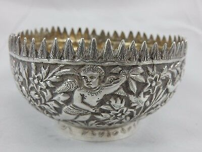 INDIAN , solid silver NUT BOWL, c1900, 70gm