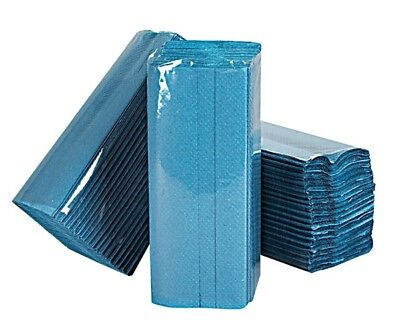ESSENTIALS 1 Ply Blue C-Fold Paper Hand Towels - Pack of 2560