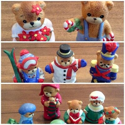 Lot of 11 Lucy & Me Bear Figurines,Christmas