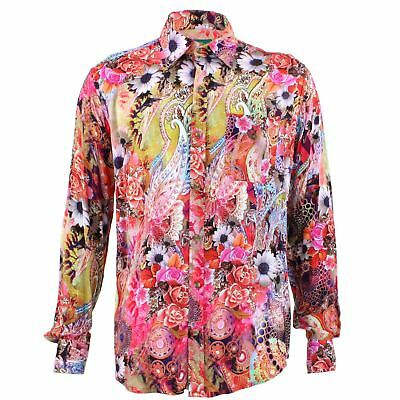 eb4a3ee2 Men's Loud Shirt Retro Psychedelic Funky Party TAILORED FIT Flower Paisley