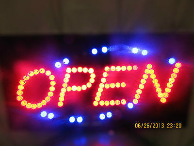"""NEW 19"""" X 10"""" LED OPEN SIGN-FLASHING AND GREAT DEAL!-ELECTRIC UNKNOWN oval"""