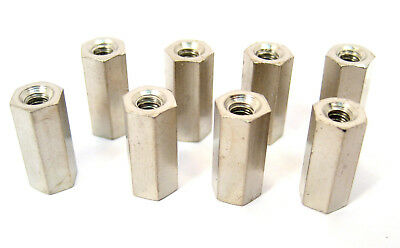 "Brass Hex Spacers/Standoffs, 6/32 Thread,  9/16"" Long: 8/Lot: HH Smith 8833"