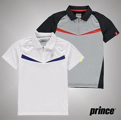 Juniors Boys Girls Prince Breathable Half Zip Tech Tennis Shirt Top Size 6-14Yrs
