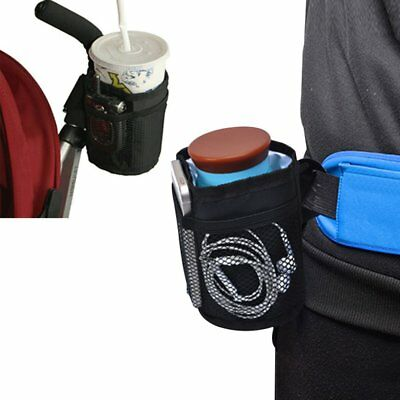 Baby Stroller Cup Holder Waterproof Insulation Bag for Wheelchairs Bottle Pocket
