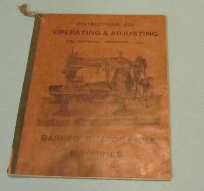 1910 Era Singer Barred Button Hole Sewing Machine Instruction Manual 61-5 to 12