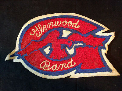 Old Vtg Collectible Glenwood School Band With Eagle Bird Patch Music