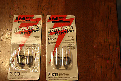 new Rayovac K13-2 Krypton 6V Lantern Bulbs 2pk KPR113 3.6 Watt