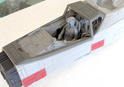 Cockpit with Pilot and Clear Parts for 1/29 Scale Star Wars Revell X-Wing Kit