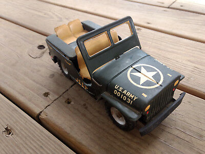 Collectible Tin Friction US Army 001031 Toy Jeep