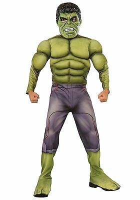 Boys MUSCLE Incredible Hulk Costume Halloween Outfit Boys Child Green M L Kids