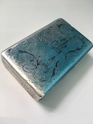 IMPERIAL RUSSIAN SILVER NIELLO SNUFF BOX 1850 Scottish History Presentation!!