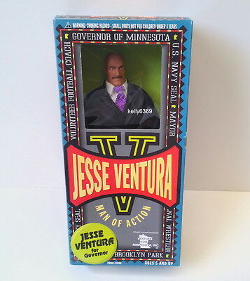 JESSE VENTURA Doll **GOVERNOR OF MINNESOTA** Man of Action Figure NEW