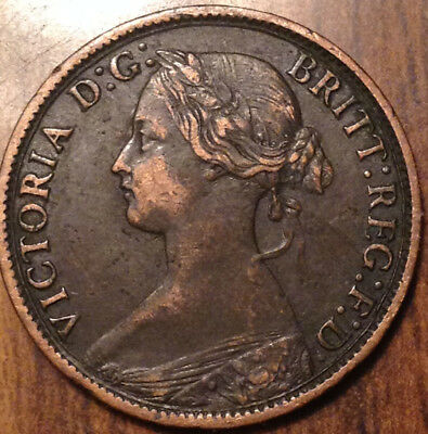 1862 Uk Gb Great Britain Farthing A Beautiful Example !