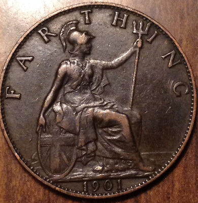 1901 Uk Gb Great Britain Farthing In Superb Condition !