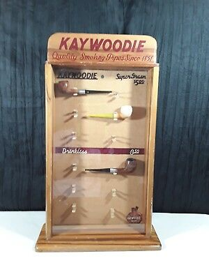 Antique Kaywoodie Pipe Store Countertop Showcase Display