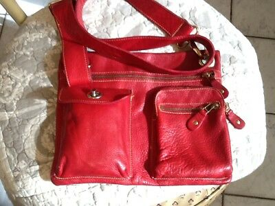 Authentic Vguc.roots  Red Crossbody   Handbag!!!!!!!!