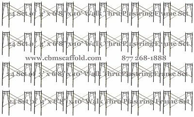 "24 SET of 3' X 6'8"" X 10' Plastering Masonry Scaffold Frame Set CB Mcaffold"