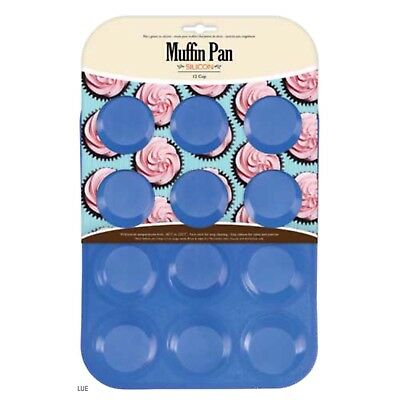 6 Cup Silicone Muffin Pan Tray Mould Home Bakeware Non Stick Bake Baking