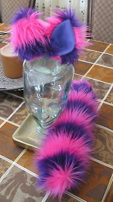 Cheshire Cat pink purple ears, tail & sets in 2 sizes