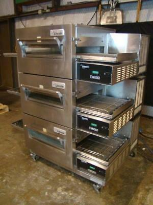 Lincoln Impinger 1132 Triple Stack Electric Conveyor Pizza Ovens.....Video Demo