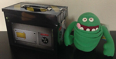 Ghostbusters Ghost Trap Tin Lunch Box & Slimer Plush