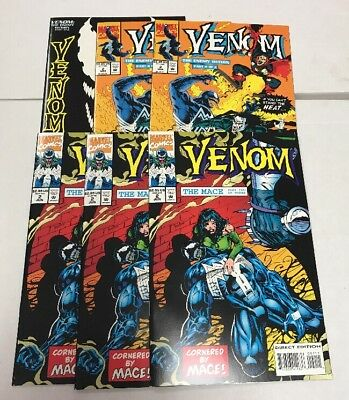 Lot Of 6 Marvel Venom Comic Books Enemy Within Issue #1 And 2 The Mace #2