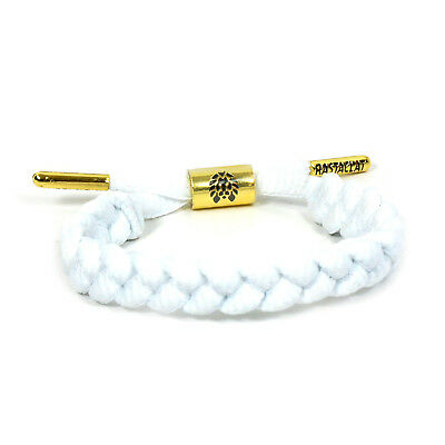 RASTACLAT Zion II 2 Shoelace White Sneakers Nylon Wristband Bracelet Jewelry NEW