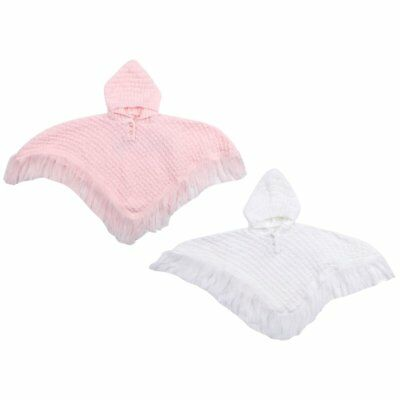24 m BABYPREM Baby Girls Clothes Pink Spotted Hooded Poncho Cardigan Wrap 0 m