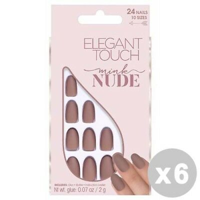 ELEGANT TOUCH Set 6 Nude Nails adhesive fake mink - manicure / pedicure