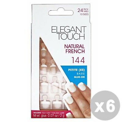 ELEGANT TOUCH Set 6 Fake Nails natural 144 french petite coffins