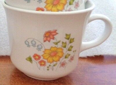 Corelle Meadow Old  Pattern Cups, Disc. 1986, Multiple Available, Exc