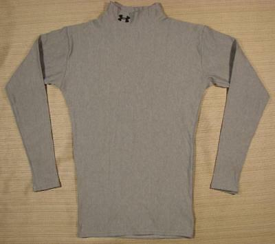 Men's Under Armour ColdGear Long Sleeve Compression Mock-T Shirt Small S gray