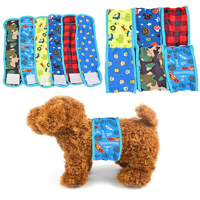 Male Dog-Cottons Physiological Pant Sanitary Underwear Belly Band Diaper for Pet
