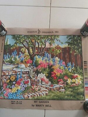 TAPESTRY NEEDLEPOINT KIT  -  'My Garden' by Marty Bell