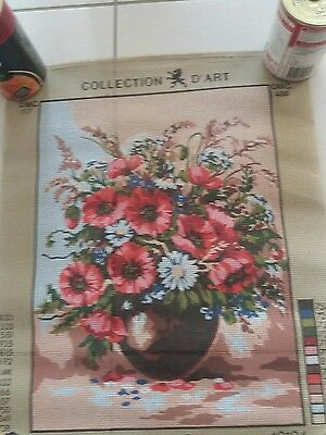 TAPESTRY NEEDLEPOINT KIT - 'Red Poppies'