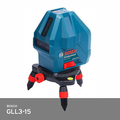 Bosch GLL3-15 Pro 3Line Laser Level Self-Leveling 50ft IP54 Compact Robust FedEx