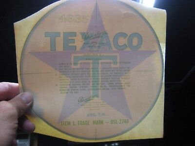Texaco DUROCHROME DECAL  DATED 3/22/60
